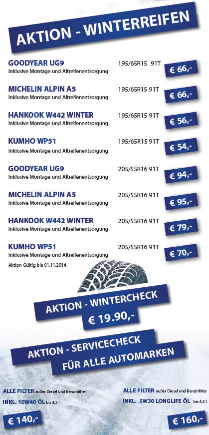 Aktion Winterreifen 2014